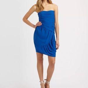 Catherine Malandrino Dress Size 14 Strapless Asym